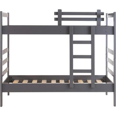 Camarote madera 1 plaza gris