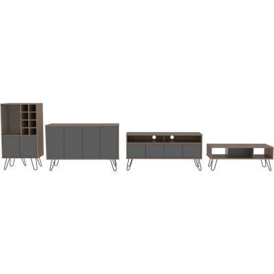 Combo rack + bar + bife + mesa miel/plomo