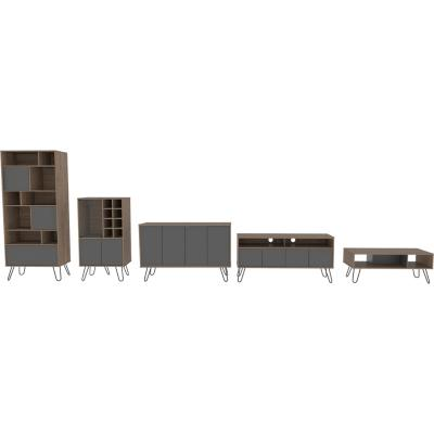 Combo rack + biblioteca + bar + bife + mesa