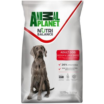 Alimento seco para perro adulto raza mediana y grande 15 kg