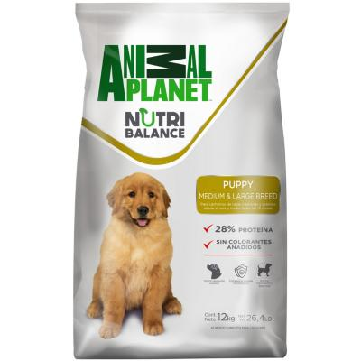Alimento seco para perro cachorro raza mediana y grande 12 kg