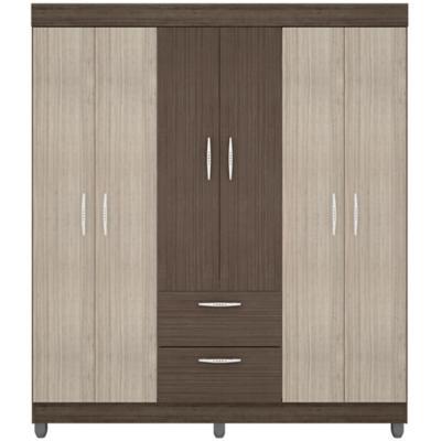 Closet 6 puertas 2 cajones 1,64x47x190 cm