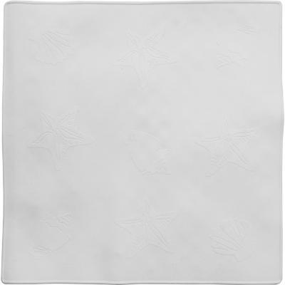 Piso antiadherente microcontrol 53x53 cm blanco