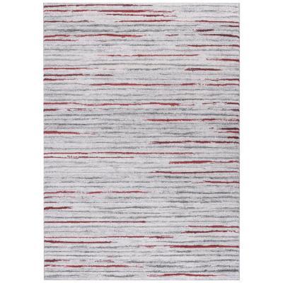 Alfombra Kurt líneas 200x290 cm rojo