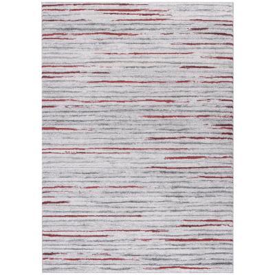 Alfombra Kurt líneas 133x190 cm rojo