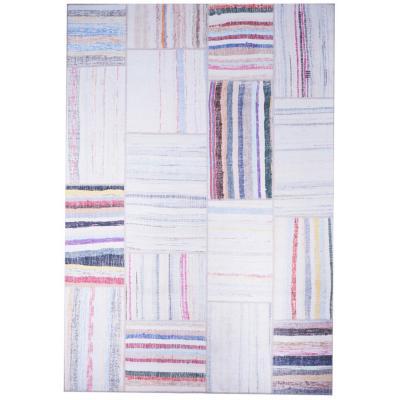 Alfombra Kyle Multicolor 80x240 cm blanco