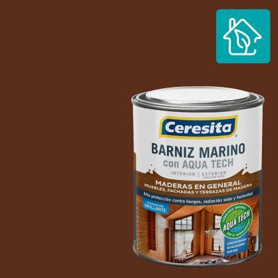 Barniz Marino Aquatech Caoba 1/4 gl