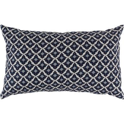 Cojín marroquí rombos azules y beige 30x50 cm