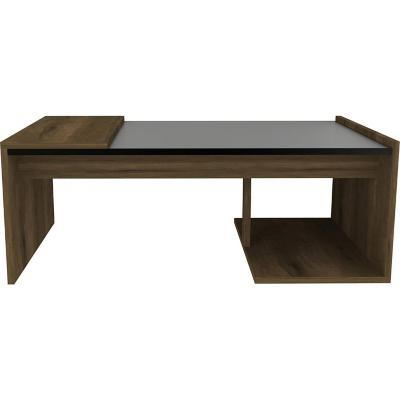 Mesa de centro 88x54x29,5 cm Negro/Cedro