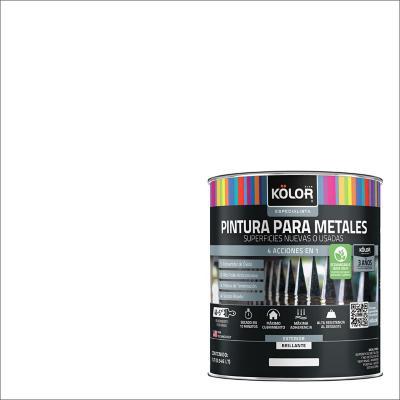 Esmalte sintético base agua triple acción secado 15 minutos blanco l