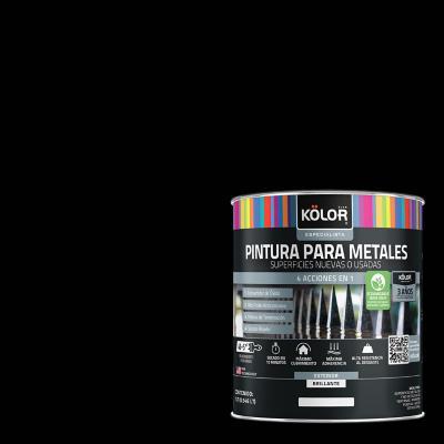 Esmalte sintético base agua triple acción secado 15 minutos negro l