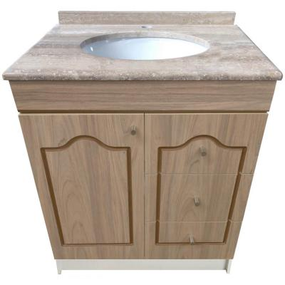 Vanitorio mármol  1 puerta 3 cajones madera 80x50x87 cm