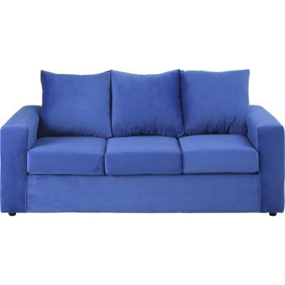 Sofá 3 cuerpos 175x85x75 cm azul rey