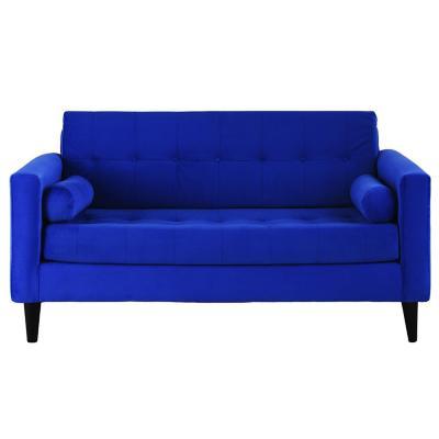 Sofá 3 cuerpos 170x75x70 cm azul rey