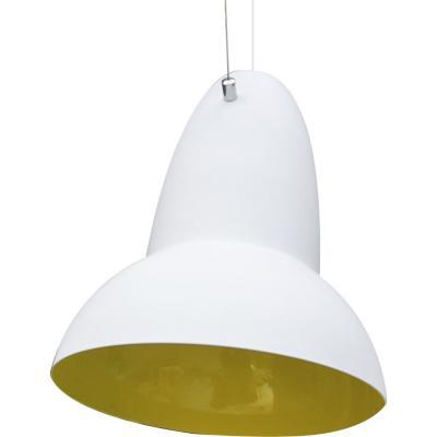 Lámpara de colgar Metal Dirigible Blanca