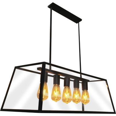 Lámpara de colgar Metal Retro Negro