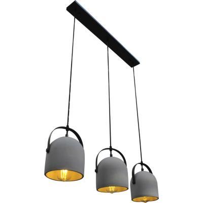 Lámpara de colgar Concreto 3L Gris