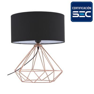 Lámpara de mesa geometrica cobre 60 W