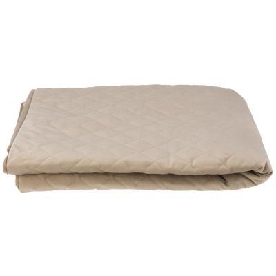 Funda protectora para sillón de 2 cuerpos, felpa color beige
