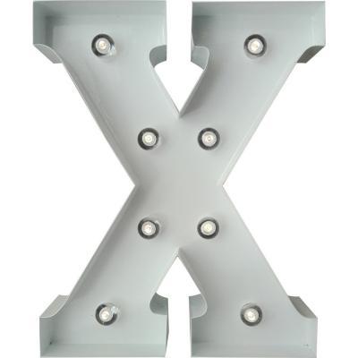 Letra Metálica Led X 20x25 cm