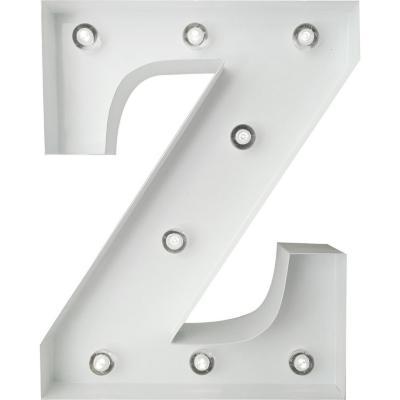 Letra Metálica Led Z 20x25 cm