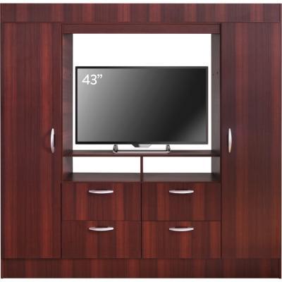 "Closet baker TV 43"" 2 puertas 4 cajones chocolate"