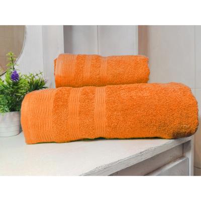 Set toallas 500g 2 piezas naranjo