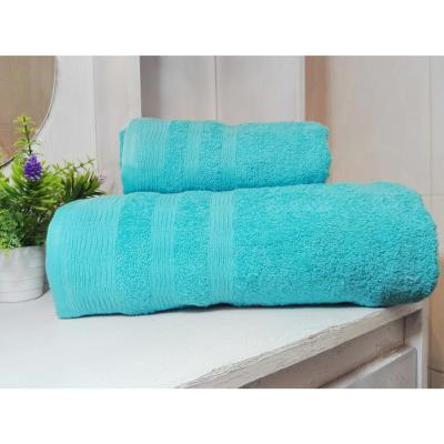 Set toallas 500g 2 piezas turquesa