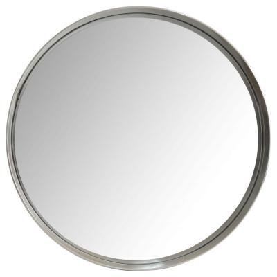 Espejo silver redondo metalico