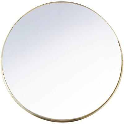Espejo gold redondo metalico