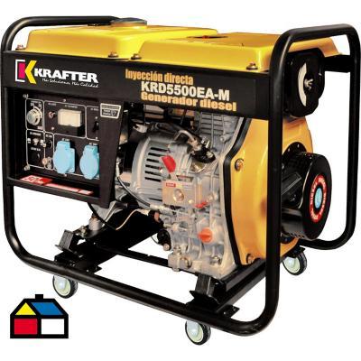 Generador eléctrico a diesel 5500 W