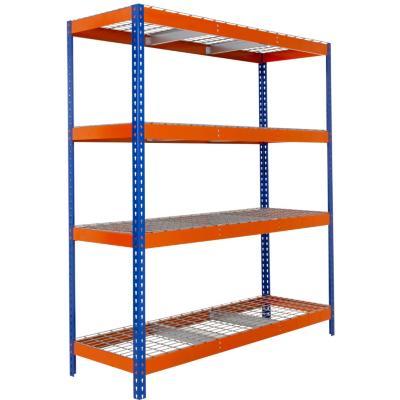Estantería Stocker azul/naranjo 200x180x60 cm