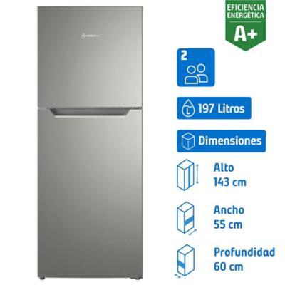 Refrigerador no frost top mount freezer 197 litros inox