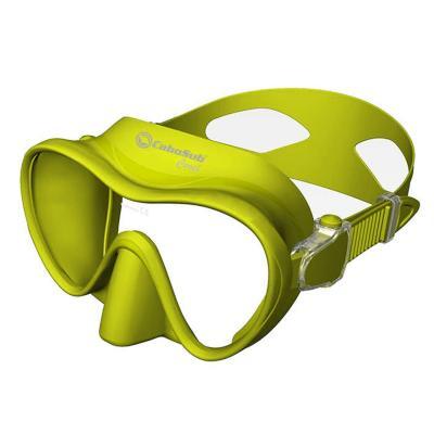 Máscara buceo coral amarillo