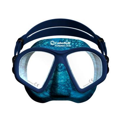 Máscara buceo tonina camuflada azul