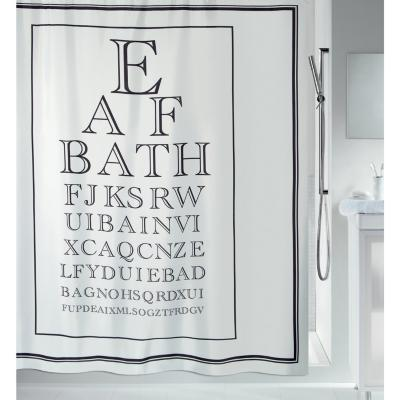 Cortina de baño Letras 180x200 cm