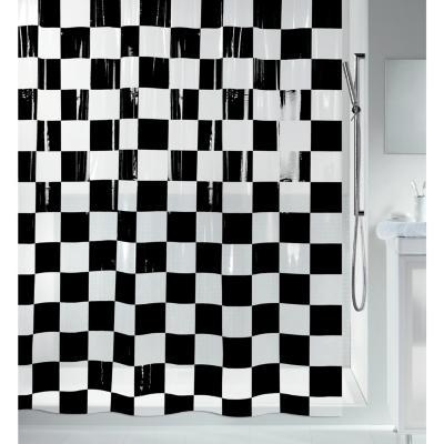 Cortina de baño Ajedrez 180x200 cm