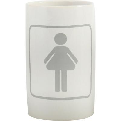 Vaso para baño Símbolo Mujer