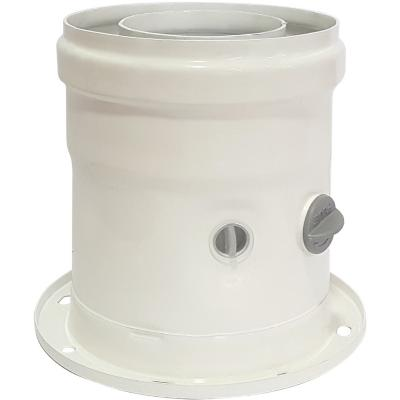 Adaptador vertical coaxial 60mm/100mm para caldera