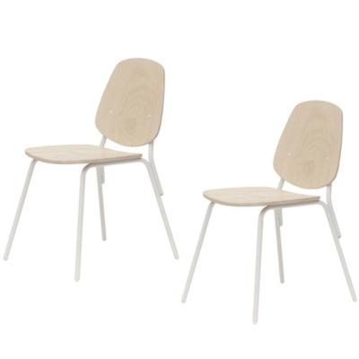 Set de 2 sillas 46x57x83 cm natural