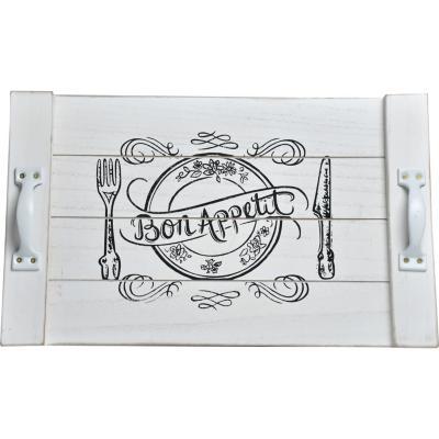 Bandeja Bon Appetit 40x25 cm madera blanco