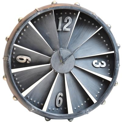 Reloj mural Turbina 40 cm metálico