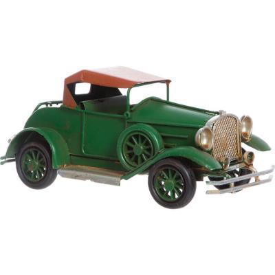 Auto antiguo decorativo 7x17x7 cm metal verde