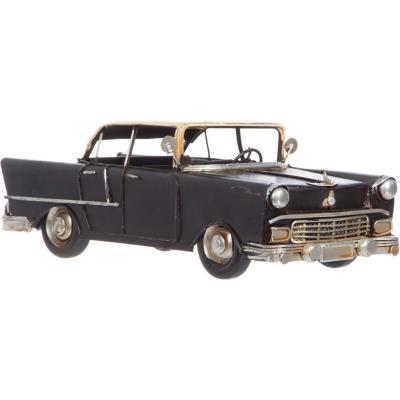 Automóvil decorativo 9x10,5x26 cm madera negro