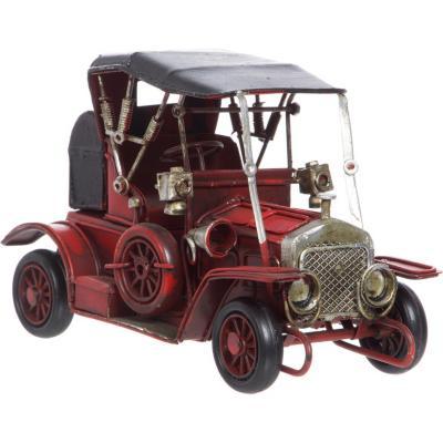 Auto antiguo decorativo 7x16,5x9 cm madera rojo