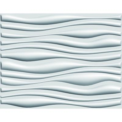 Panel 3D 80x62.5cm Blanco Pintable 3m2