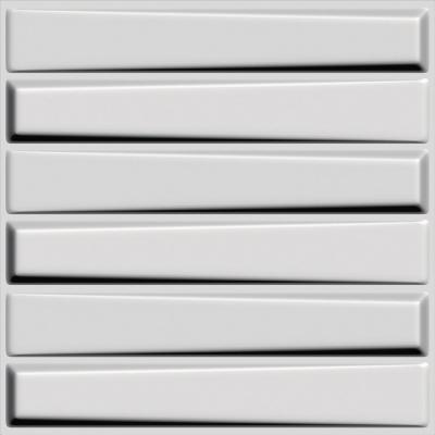 Panel 3D 50x50cm Blanco Pintable 6m2