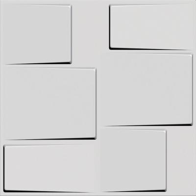 Panel 3D 50x50cm Blanco Pintable 6m2
