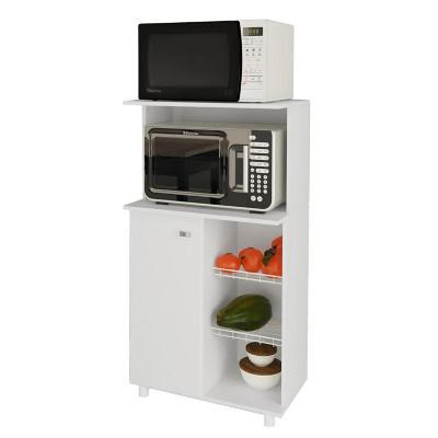 Mueble para microondas 61x41x116 cm Blanco