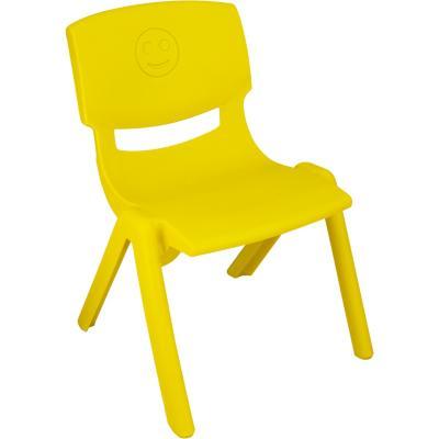 Silla plástica apilable amarilla